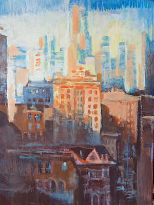 Painting - Downtown Old And New by John Fish