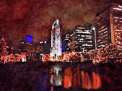 Mixed Media - Downtown Omaha by Dennis Buckman