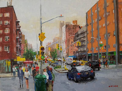 Painting - Downtown On Seventh No. 1  by Peter Salwen