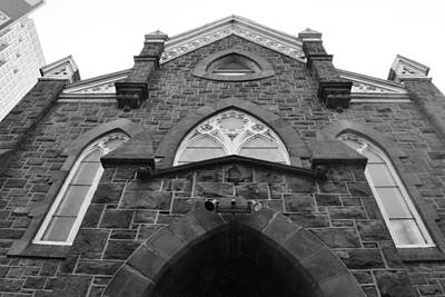 Photograph - Downtown Philadelphia Church Black And White by Matt Harang