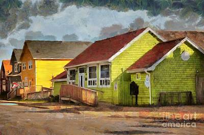 Digital Art - Downtown Pictou by Eva Lechner