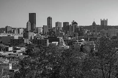 Photograph - Downtown Pittsburgh In Black And White by Jim Cheney