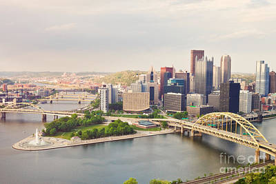 Photograph - Downtown Pittsburgh Pennsylvania by Sharon Dominick