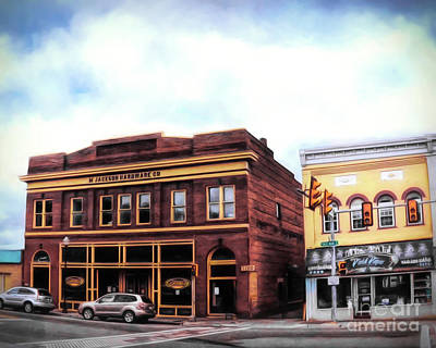 Photograph - Downtown Radford - Historic Buildings by Kerri Farley