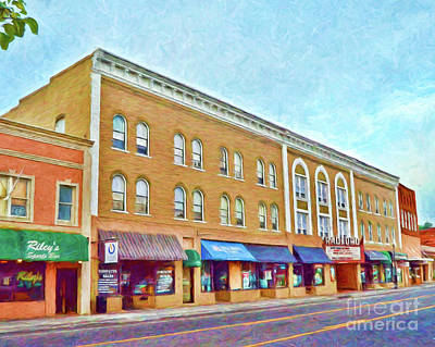 Photograph - Downtown Radford Virginia by Kerri Farley
