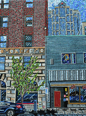 Painting - Downtown Raleigh - West Martin Street by Micah Mullen