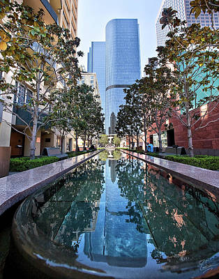 Photograph - Downtown Reflecting Pool by Endre Balogh