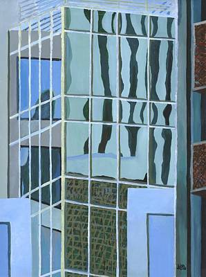 Painting - Downtown Reflections by Alika Kumar