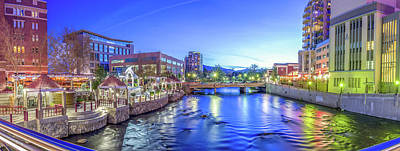 Downtown Reno Summer Twilight Art Print
