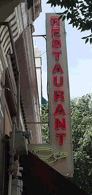 Photograph - Downtown Restaurant II by Suzanne Gaff