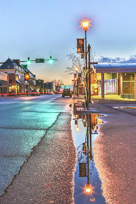 Photograph - Downtown Rockingham Reflection by Jimmy McDonald