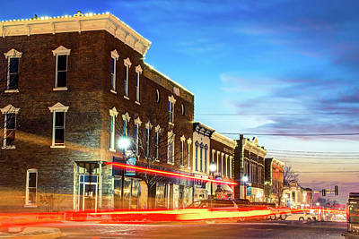 Photograph - Downtown Rogers Arkansas Skyline At Dusk by Gregory Ballos