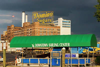 Photograph - Downtown Sailing - Domino Sugars by Brian Wallace