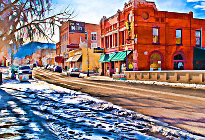 Downtown Salida Hotels Print by Charles Muhle