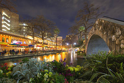 Downtown San Antonio Texas Riverwalk 1 Art Print by Rob Greebon