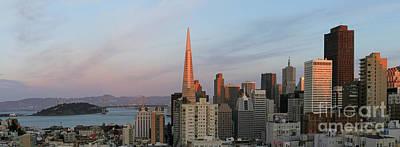 Bay Bridge Photograph - Downtown San Francisco And Bay Bridge by Matt Tilghman