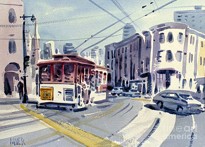 Downtown San Francisco Painting - Downtown San Francisco by Donald Maier