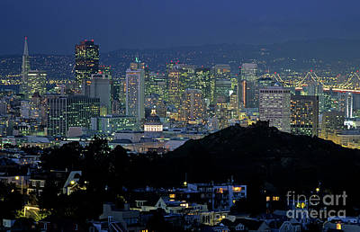 Photograph - Downtown San Francisco From Tank Hill  by Jim Corwin