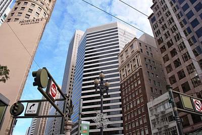 Photograph - Downtown San Francisco Intersection Looking Up by Matt Harang