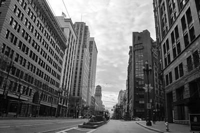 Photograph - Downtown San Francisco - Market Street - Black And White by Matt Harang