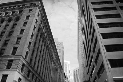 Photograph - Downtown San Francisco Street View - Black And White 2 by Matt Harang