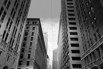 Photograph - Downtown San Francisco Street View - Black And White by Matt Harang