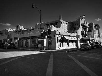Photograph - Downtown Santa Fe 001 Bw by Lance Vaughn