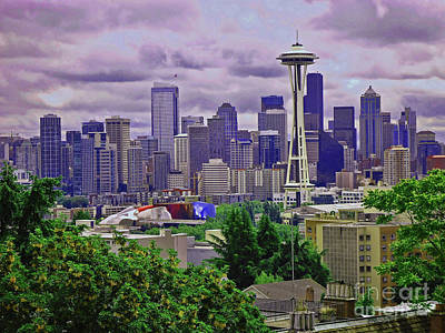 Photograph - Downtown Seattle From Kerry Park by Allen Beatty