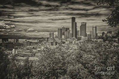 Photograph - Seattle In Black And White by John Greco