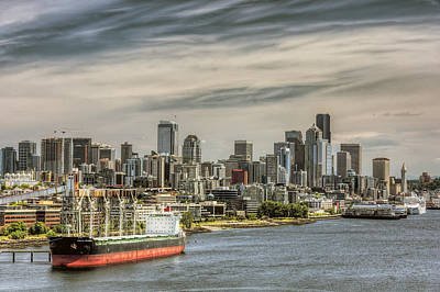Photograph - Downtown Seattle by Lewis Mann