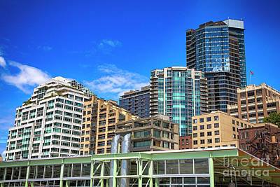 Photograph - Downtown Seattle  by Mariola Bitner