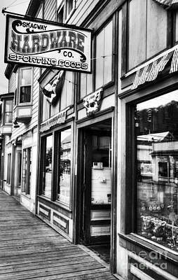 Photograph - Downtown Skagway 4 Bw by Mel Steinhauer