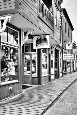 Photograph - Downtown Skagway Bw by Mel Steinhauer
