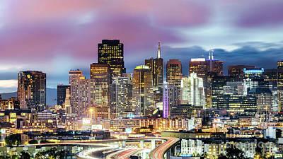 Photograph - Downtown Skyline At Dusk, San Francisco, California, Usa by Matteo Colombo
