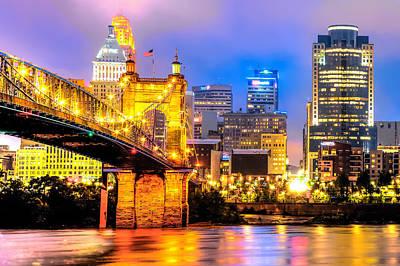 Downtown Skyline Of Cincinnati Ohio Art Print by Gregory Ballos