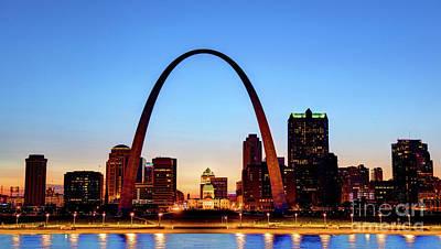 Downtown St Louis, Missouri Skyline Art Print by Denis Tangney Jr