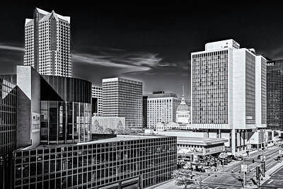 Photograph - Downtown St Louis Mo Dsc03748281 Black And White by Greg Kluempers