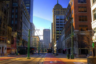 Downtown Sunday Morning In February Art Print by Don Nieman