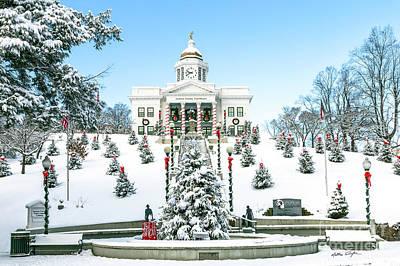 Photograph - Downtown Sylva, Nc Courthouse Christmas 2016 by Matthew Turlington