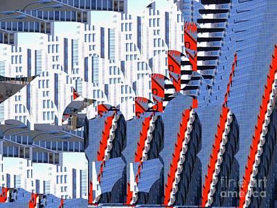 Digital Art - Downtown Symmetry  by Nancy Kane Chapman