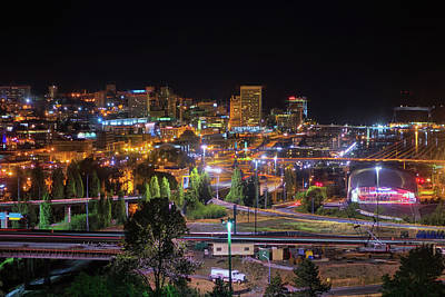 Photograph - Downtown Tacoma Night by Jason Butts