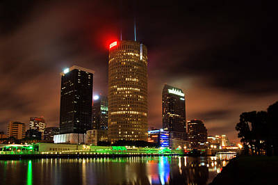 Photograph - Downtown Tampa And Hillsborough River by Daniel Woodrum