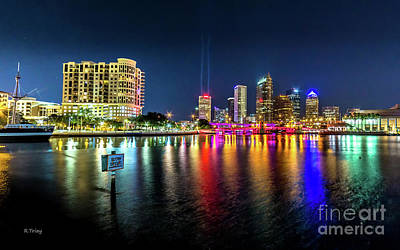 Photograph - Downtown Tampa Night Skyline by Rene Triay Photography