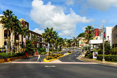 Downtown Tamuning Guam Art Print
