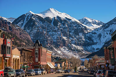 Landmarks Royalty Free Images - Downtown Telluride Royalty-Free Image by Darren White