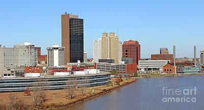Photograph - Downtown Toledo Riverfront 5129 by Jack Schultz