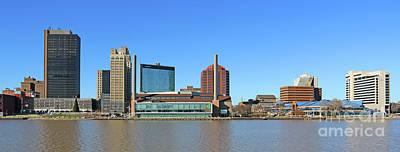 Photograph - Downtown Toledo Skyline  5136 by Jack Schultz