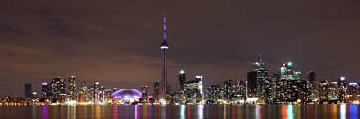 Photograph - Downtown Toronto - Lit Up by Anthony Rego