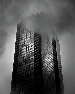Downtown Toronto Fogfest No 24 Art Print by Brian Carson