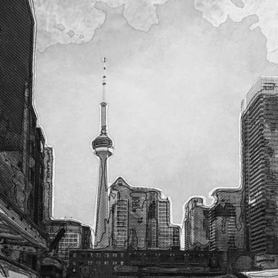 Eduardo Tavares Photo Royalty Free Images - Downtown Toronto in BW Royalty-Free Image by Eduardo Tavares